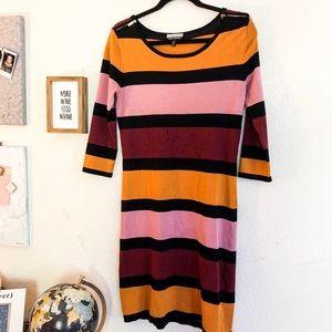 3/$20 Allison Brittany striped dress size small